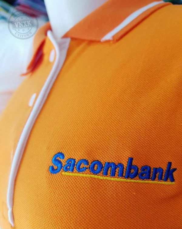 Áo thun đồng phục ngân hàng sacombank 1