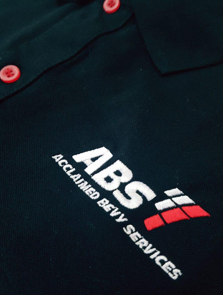 Logo công ty ABS được gia công tỷ mỹ, sắc sảo