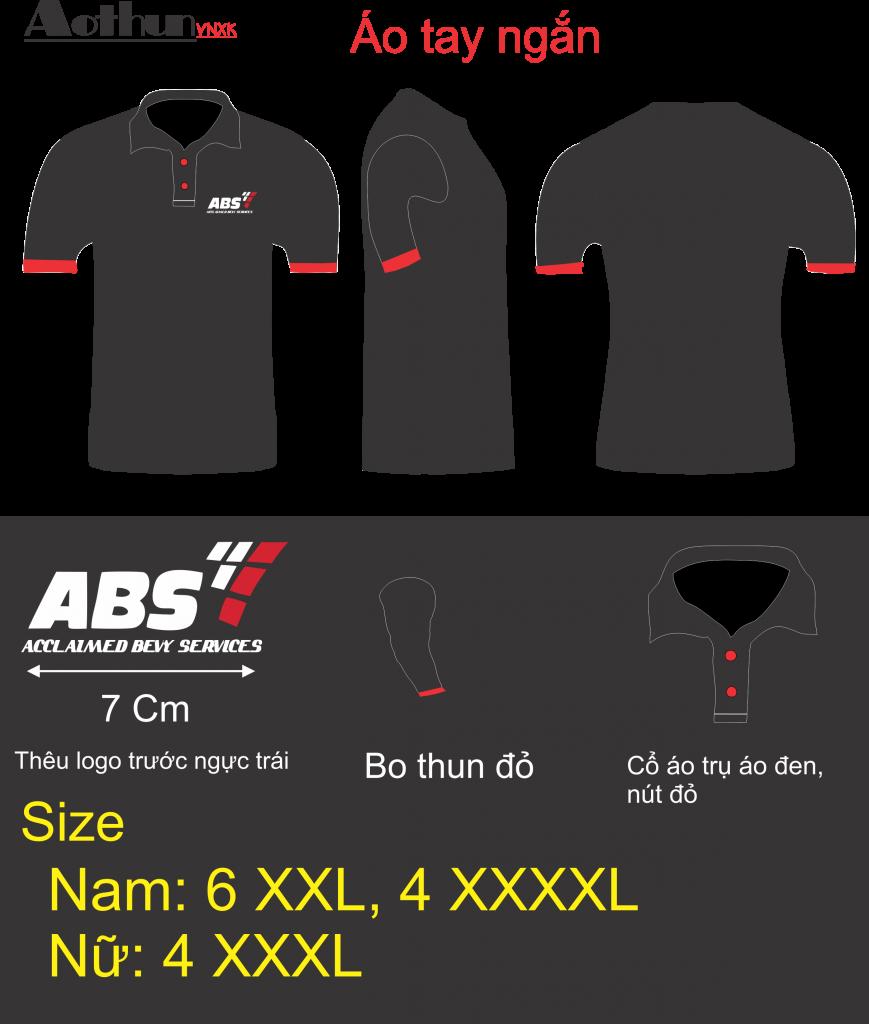 Mẫu thiết kế áo thun đồng phục công ty ABS