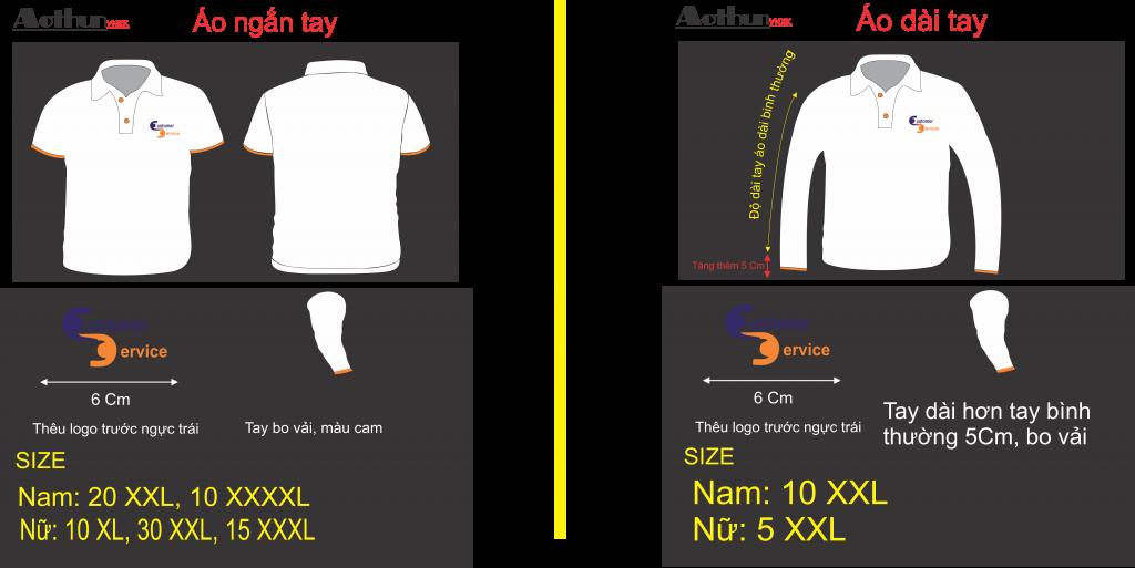 Mẫu thiết kế áo thun đồng phục công ty ABS màu trắng tay ngắn và dài