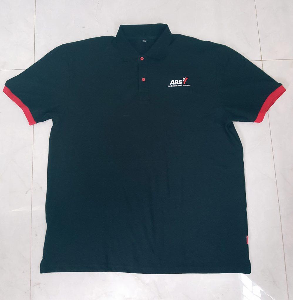 Thành phẩm áo thun đồng phục công ty ABS