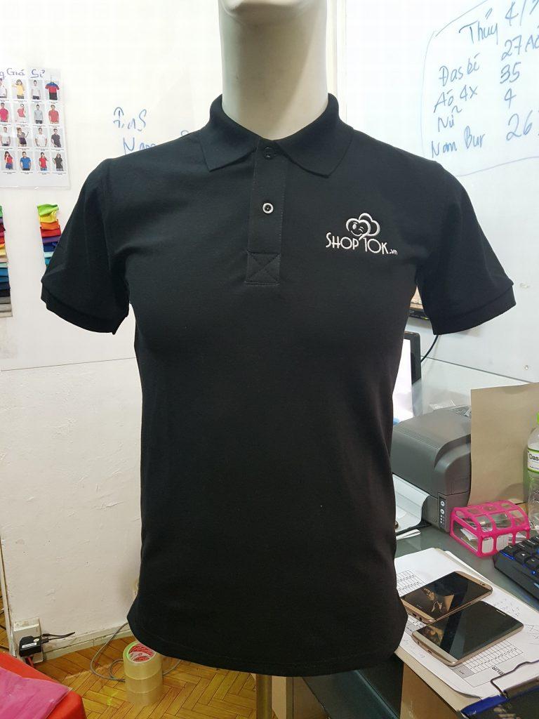 áo thun đồng phục công ty màu đen