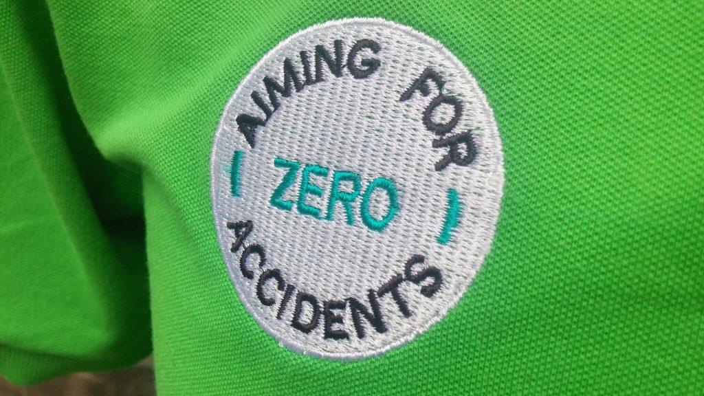 Áo thun đồng phục zero (aiming for zero accident)