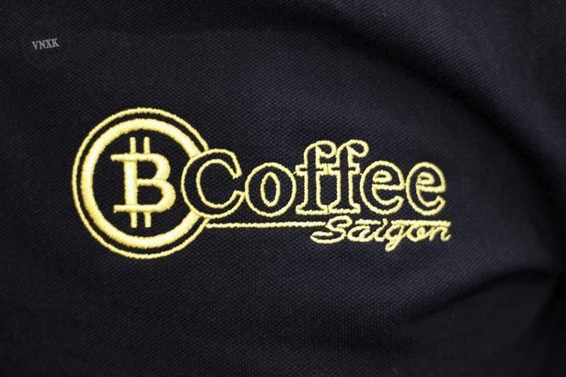 áo thun đồng phục quán cafe bitcoin