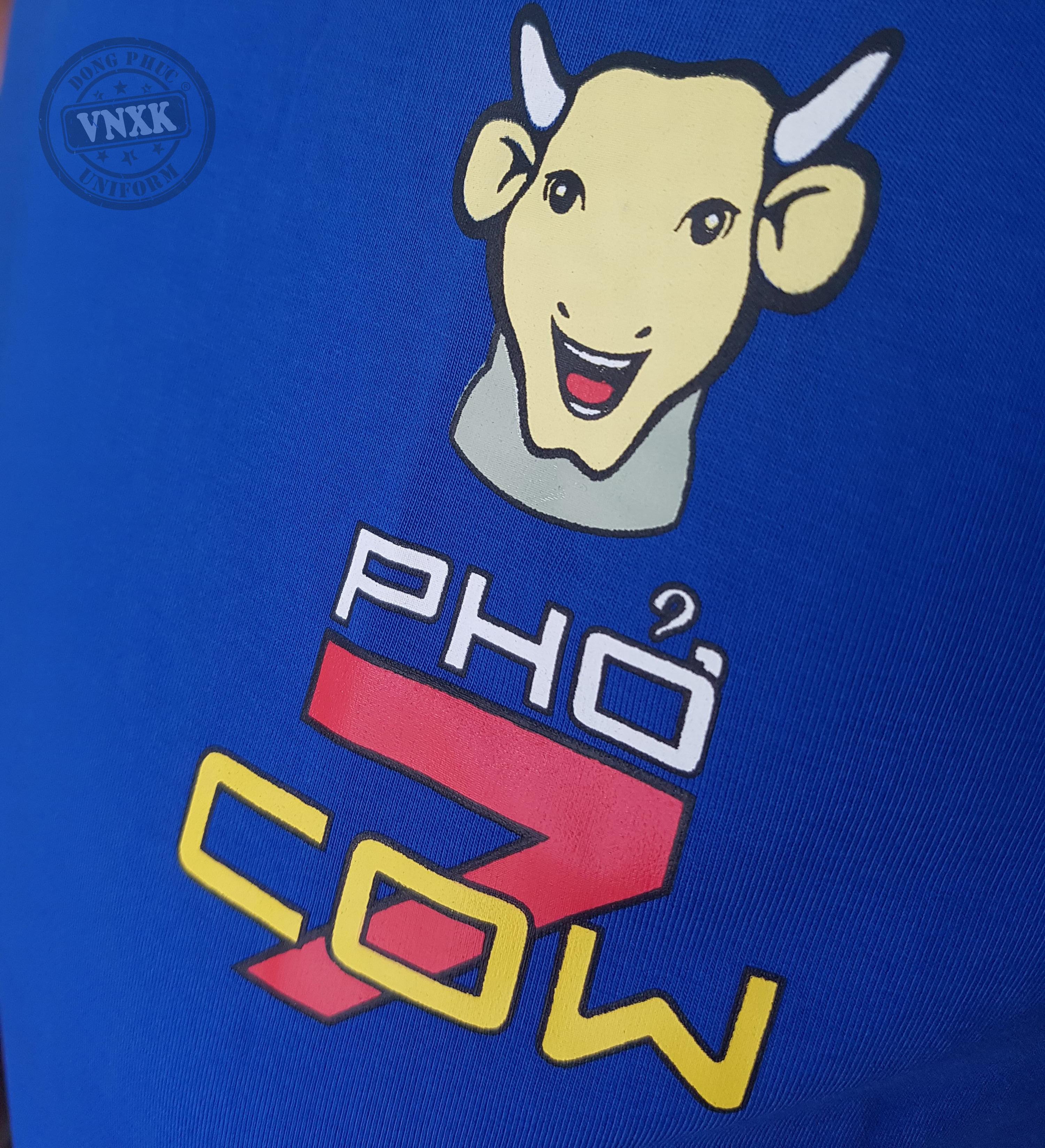 Áo thun đồng phục nhà hàng phở Cow Cali 2
