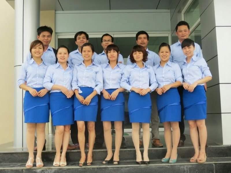 Áo đồng phục công sở vải kate đẹp