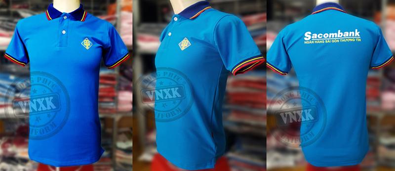 áo thun đồng phục ngân hàng sacombank 2018