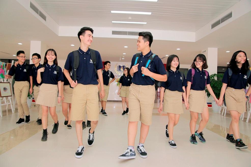 mẫu áo đồng phục trường Vinschool