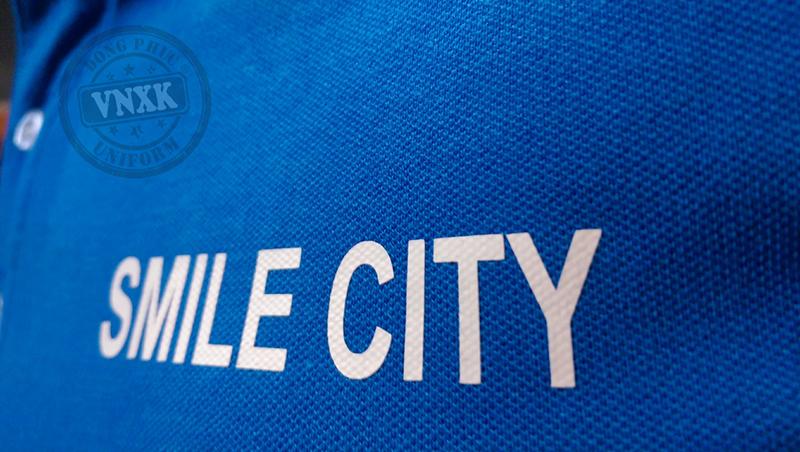 áo thun đồng phục công ty smile city 1