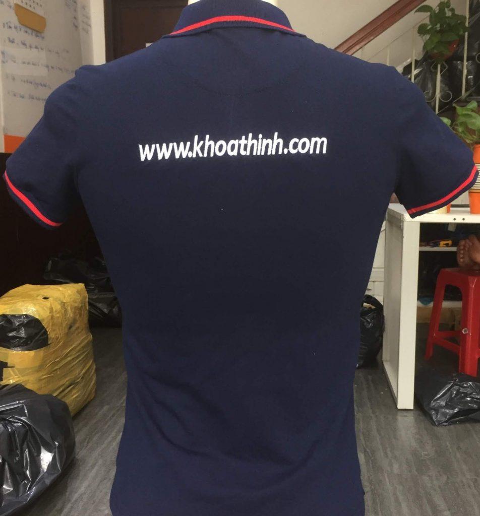 Chi tiết áo thun đồng phục công ty Khoa Thịnh