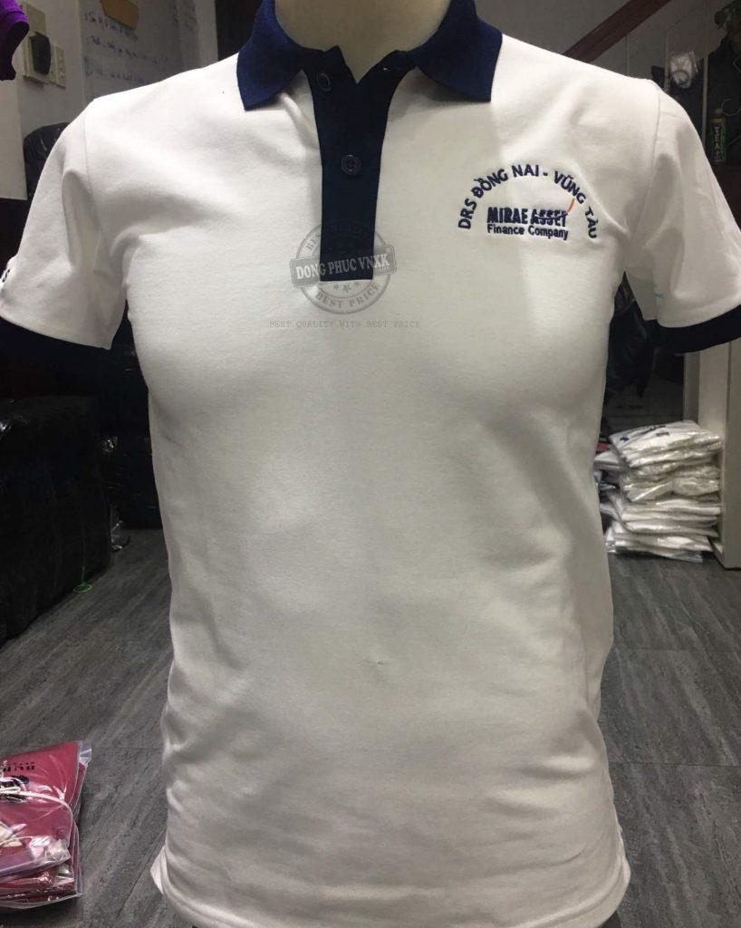 Chi tiết áo thun đồng phục công ty DRS