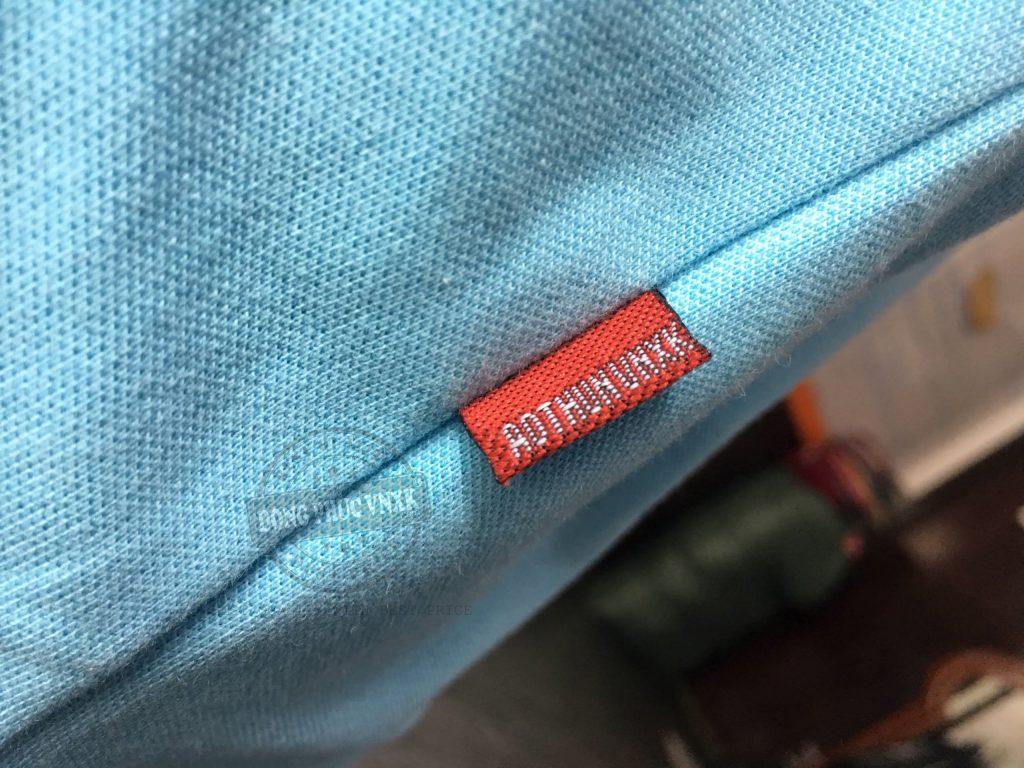 Chi tiết áo thun đồng phục công ty Hoàng Quân